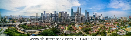 Panorama of Kuala Lumpur in the morning Stock fotó © galitskaya