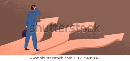 man deciding choosing path vector cartoon character stock photo © pikepicture