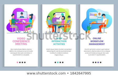 Online Workflow Management Website Online Info Foto d'archivio © robuart