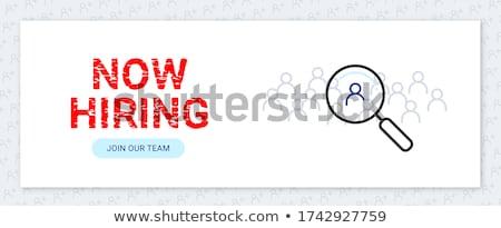 job search template stockfoto © genestro