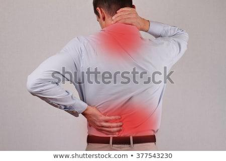 Empresario sufrimiento dolor de cuello escritorio negocios trabajo Foto stock © AndreyPopov