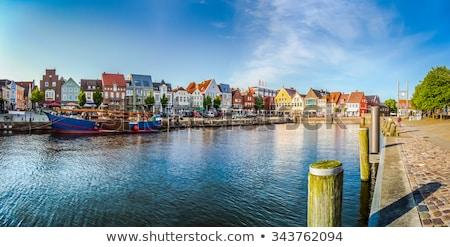 helgoland city harbor germany stock photo © artush