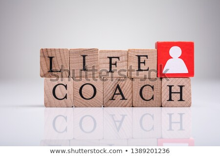 Red Human Figure Block Next To Word Life Coach Stock photo © AndreyPopov