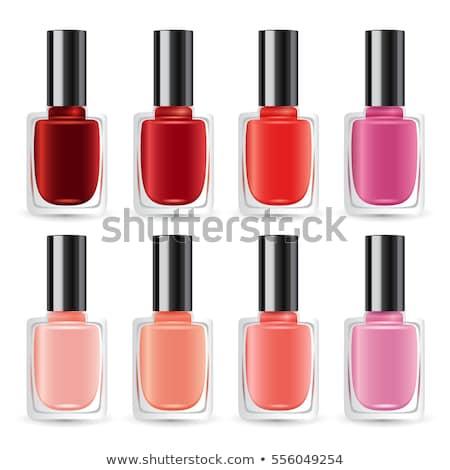 Botella rojo esmalte de uñas femenino cosméticos vector Foto stock © pikepicture