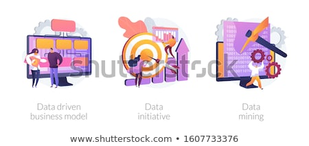 Gegevens initiatief business bespreken ideeën Stockfoto © RAStudio