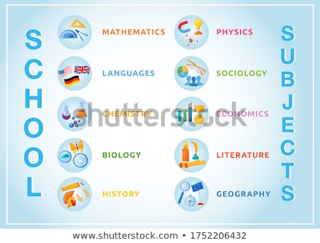 disciplines and subjects of school banners set zdjęcia stock © robuart