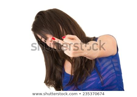 Studio Portrait Of Defiant Young Girl Stock photo © monkey_business