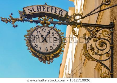 Historische architectuur Oostenrijk Europa huis gebouw straat Stockfoto © Spectral