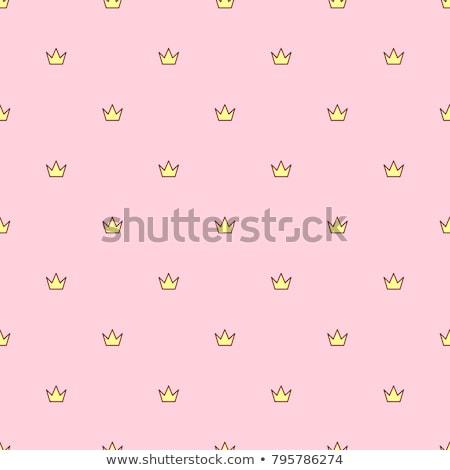 Vector Cute Crown On Pillow Stock fotó © VetraKori