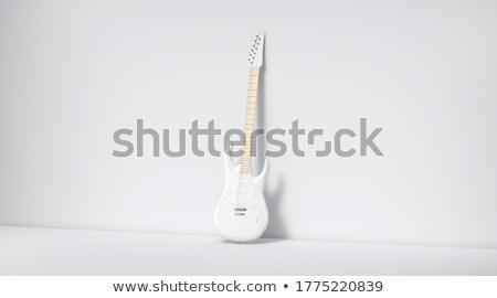 lege · sjabloon · gitaar · illustratie · kantoor · papier - stockfoto © colematt