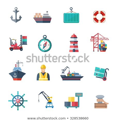 грузовое · судно · высушите · лет · флаг · вызова · двигатель - Сток-фото © netkov1