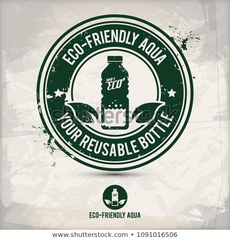 alternative eco drinking bottle stamp Stock photo © szsz