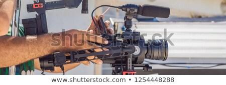 Stockfoto: Exploitant · camera · commerciële · film · technologie · achtergrond