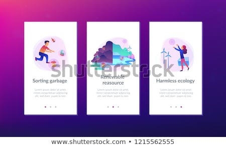Renewable resource UI UX app interface template. Stock photo © RAStudio