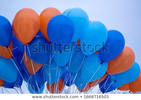 Kleurrijk helium ballonnen blauwe hemel verjaardag Stockfoto © dolgachov