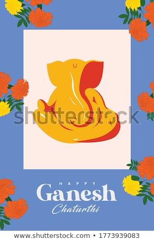 ecofriendly lord ganesha leaves background Stock photo © SArts