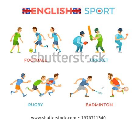 Inglés deporte fútbol rugby jugadores vector Foto stock © robuart