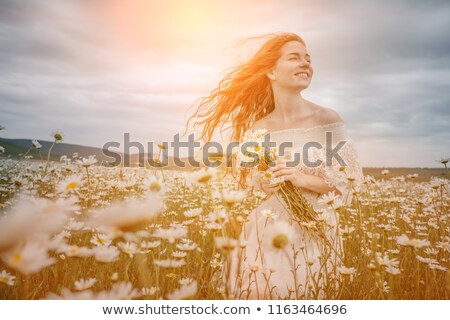 Szépség törődés örömteli lány szeplők egészséges Stock fotó © serdechny