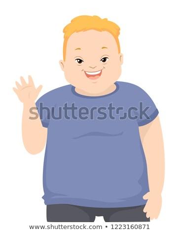 Teen chłopca w dół syndrom fali ilustracja Zdjęcia stock © lenm