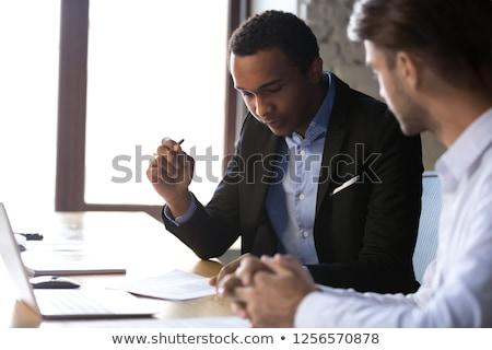 Financière documents hypothèque séance Photo stock © pressmaster