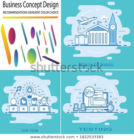 Startup teams groot ingesteld geïsoleerd illustraties Stockfoto © robuart
