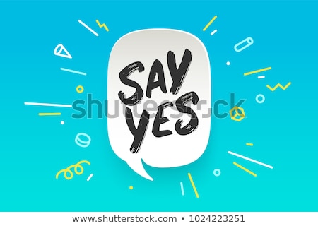 Ja banner tekstballon poster sticker tekst Stockfoto © FoxysGraphic