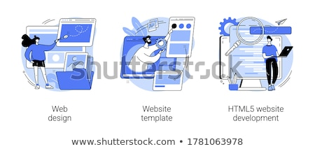 Website ontwikkeling vector metaforen internet plaats Stockfoto © RAStudio