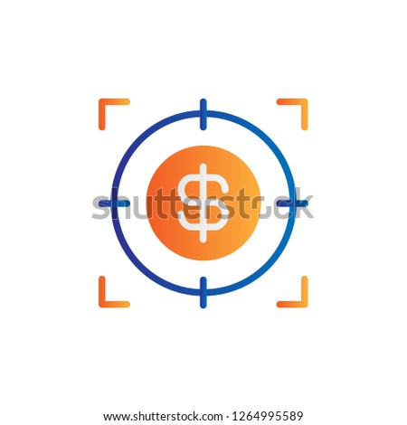 target icon sight sniper symbol crosshair and aim stock vector illustration isolated on white back stock photo © kyryloff