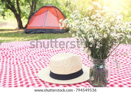 Hat цветок красный классический скатерть Сток-фото © Freedomz