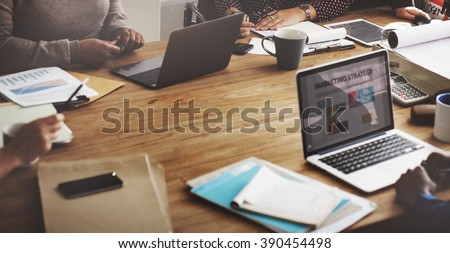 Business team meeting and discussion concept, Strategy word on w Stock photo © Freedomz