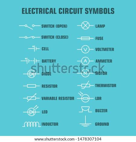 Elektrik elektronik devre diyagram semboller ayarlamak Stok fotoğraf © ukasz_hampel