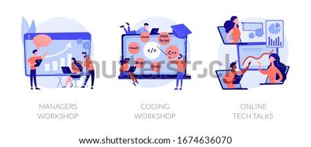 Coding workshop concept vector illustration Stock photo © RAStudio