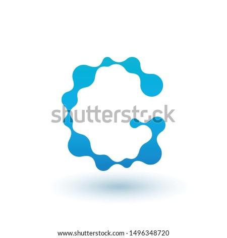 Wody molekularny litera g projektowanie logo płyn płynnych Zdjęcia stock © kyryloff