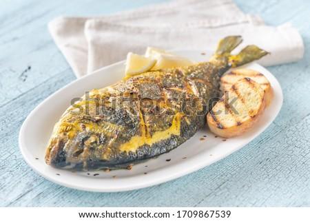 Sült sáfrány tenger curry rizs hal Stock fotó © Alex9500