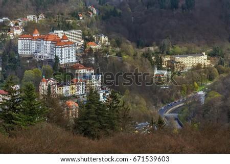 building of hotel Richmond, Karlovy Vary Stock photo © borisb17