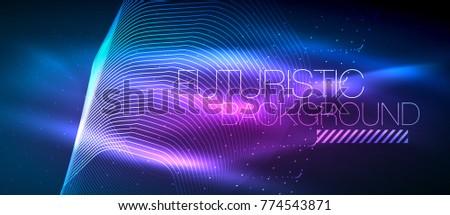 Fütüristik techno neon teknoloji bağlantı Stok fotoğraf © fresh_5265954