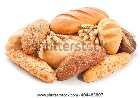 świeże bochenek brązowy chleba biały tradycyjny Zdjęcia stock © DenisMArt