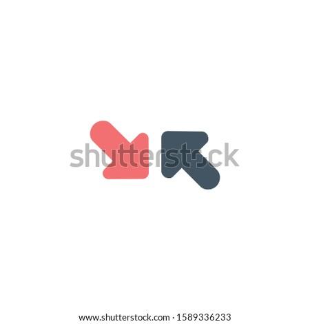 Kant pijl verschillend tegenover richting pijlen Stockfoto © kyryloff