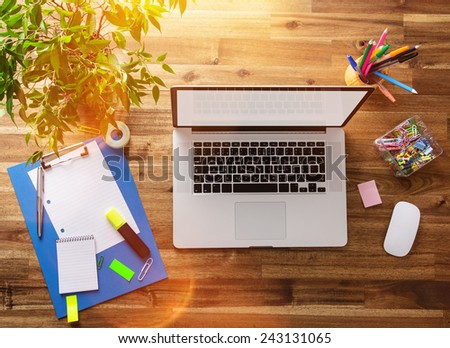 Workplace of contemporary web designer with supplies necessary for work Stock photo © pressmaster