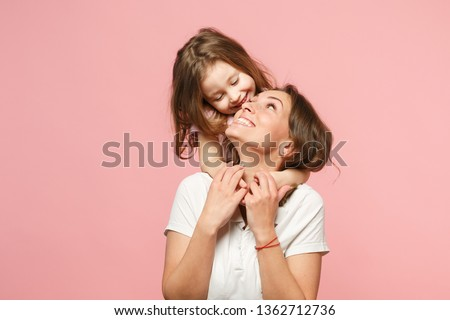 People, relationship, parenthood and childhood concept. Beautifu Stock photo © vkstudio