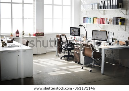 Office workplace with supplies and computer Stock photo © karandaev