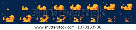 Cartoon explosion fire effect. Effect boom, explode flash, bomb comic book, vector illustration. Ani Stock photo © designer_things