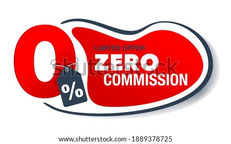 Button with zero percent on white background. Isolated 3D illust Stock photo © ISerg