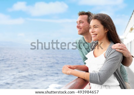 Cruise ship passenger on Alaska travel vacation enjoying scenery at dusk on suite balcony deck with  Stock photo © Maridav