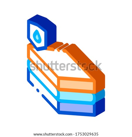 Waterproof Material Chipboard isometric icon vector illustration Stock photo © pikepicture