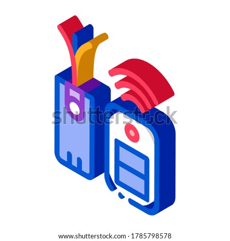 Immobilizer Electronic Symbol isometric icon vector illustration Stock photo © pikepicture
