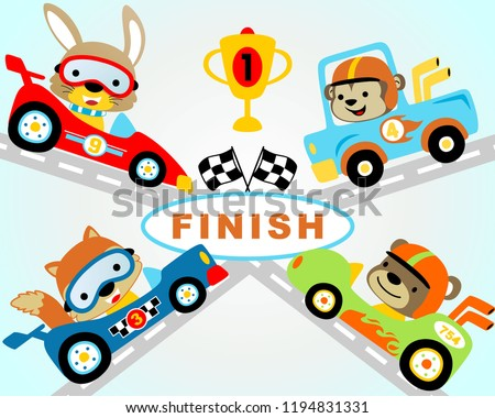 Cartoon Racer and Car Stock photo © Voysla