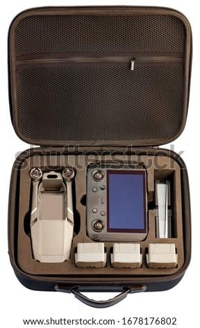 Professional digital video camera,back panel. Isolated on white  Stock photo © zeffss