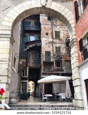 итальянский · балкона · цветы · дома · стены · домой - Сток-фото © lianem