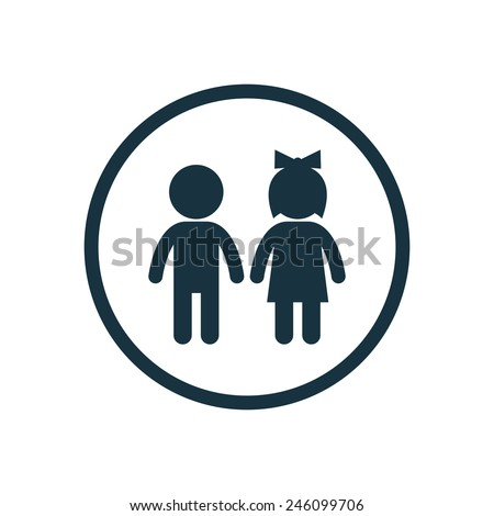 male and female gender signs with child sign isolated on white b stock photo © tuulijumala